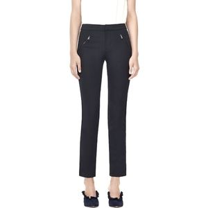 REBECCA TAYLOR Ava Techy Navy Blue Trousers 4